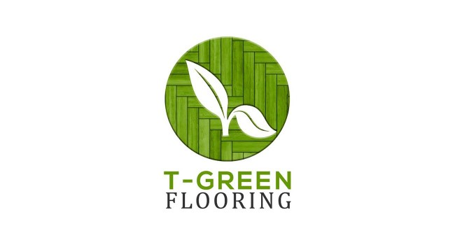 Vektar Design | T-Green Flooring Logo created by Vektar Design