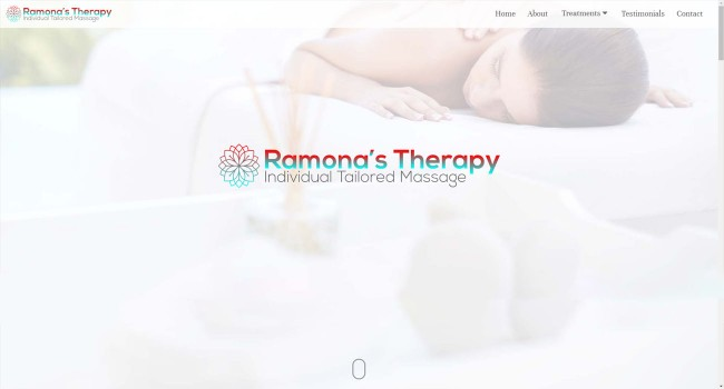 Vektar Design | Ramonas Therapy Website created by Vektar Design