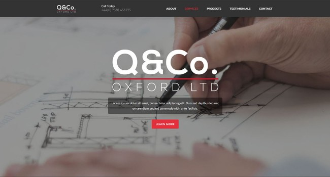 Vektar Design | Q&Co. Website created by Vektar Design